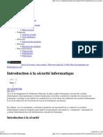 Introduction à la sécurité informatique