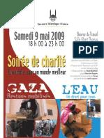 affiche soirée charité Lyon du 9 mai
