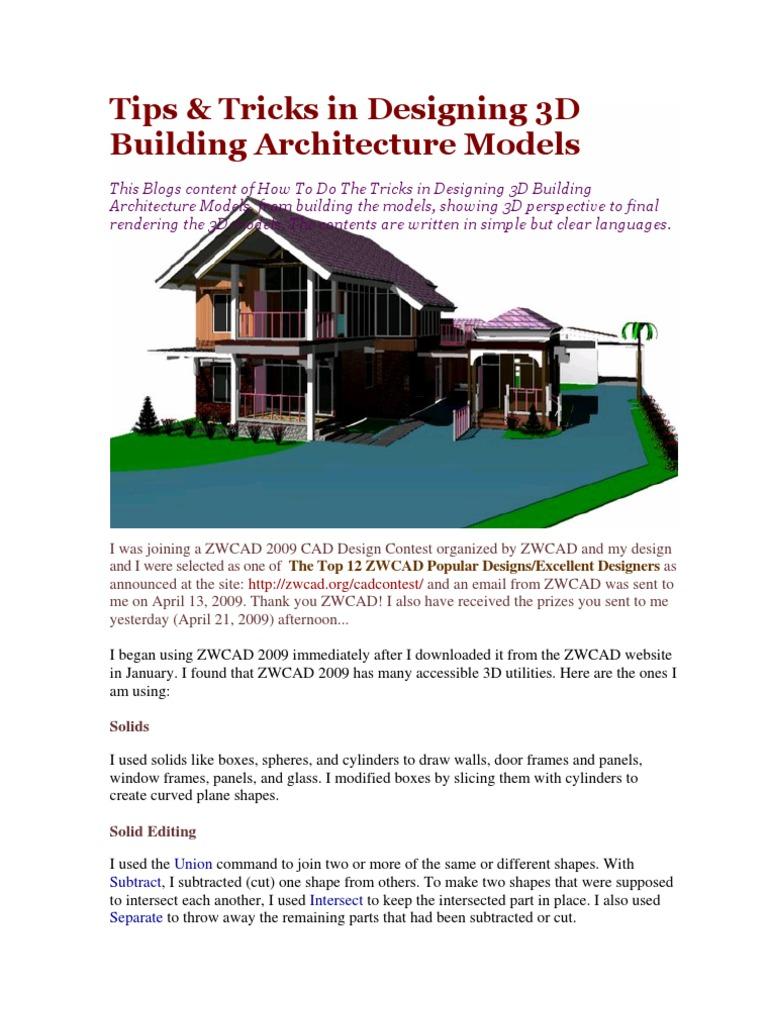 Tips Tricks In Designing 3d Building Architecture Models 3 D Computer Graphics 3 D Modeling