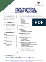 Maintenance Hydraulique Et Automatisme