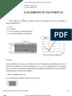Ejercicios de alumbrado de vías públicas. Manual de luminotecnia.pdf
