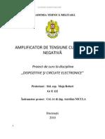 Proiect Amplificator de tensiune cu reactie negativa std cap MUJA ROBERT .pdf