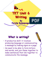 TKT Unit 6_writing
