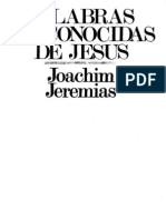 Joachim Jeremias Palabras Desconocidas de Jesc3bas