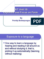 TKT Unit 10_Exposure and Focus on Form