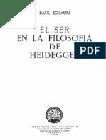 59747528 Echauri El Ser en La Filosofia de Heidegger OCR
