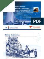 Chair in Railway Engineering Uic Presentation2