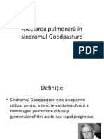 Afectarea pulmonară în sindromul Goodpasture