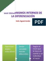 1.Los mecanismos internos de la diferenciación