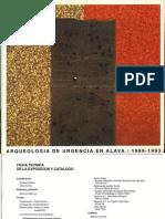 """Ana Martínez Salcedo, Juan José Cepeda Ocampo, """"Castro de Buradón"""", en Arqueología de Urgencia en Álava. 1989-1993, Vitoria-Gasteiz, 1994."""