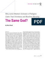 BORIS HAVEL-Why Some Western Scholars of Religion Claim That Christians and Muslims Worship the Same God.pdf