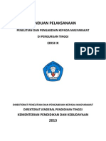 Panduan Pelaksanaan Penelitian Dan PPM Edisi IX 2013