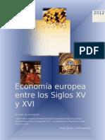Economía europea entre los Siglos XV y XVI