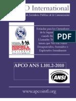 ESTANDAR PARA LOS OPERADORES DE LA SEGURIDAD PUBLICA CUANDO ATIENDEN LLAMADAS TELEFONICAS ACERCA DE NIÑOS DESPARECIDOS