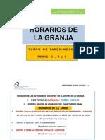 Horarios Definitivos 151112 La Granja h5 Acceso m25 m45 201213 Modo de Compatibilidad