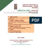 LAMPEA-Doc 2009 – numéro 15 / lundi 27 avril 2009