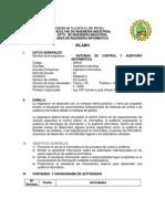 SI5441 Sistemas de Control y Auditoria Informatica