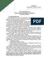 Notă privind evaluarea termenelor de soluţionare a cauzelor economice
