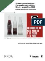 Fundación PROA - Arte de Contradicciones. Pop, realismos y politica Argentina 1960 1