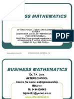 23 July Business Mathematics