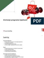 Kreiranje Programa Lojalnosti Predavanje 2009