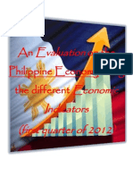 An Evaluation on the Philippine Economy Using the Different Economic Indicators