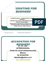 31 July Accounting for Business