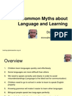 7 common myths about language and learning