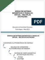 Energia em Sistemas magnéticos Trabalho Virtual - Multiplas Excitações