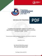 Formacion Sindical CGTP Tesis PUCP