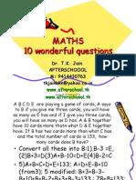 maths 25  may