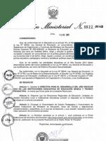 directiva del año esolar 2012