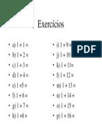 Exercícios soma II