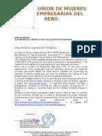 Nota de Prensa Union de Mujeres Empresarias Del Peru