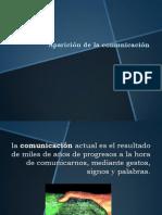 Aparición de la comunicación