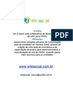 Projeto Wikisocial - Sites para ONGs