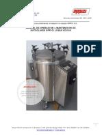 Manual de Uso y Servicio Autoclaves OPPICI VC0100