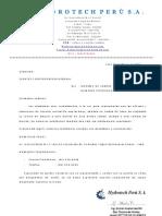 Carta de Actualizacion Datos de La Empresa