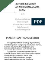 Trans Gender Menurut Pandangan Medis Dan Agama Islam