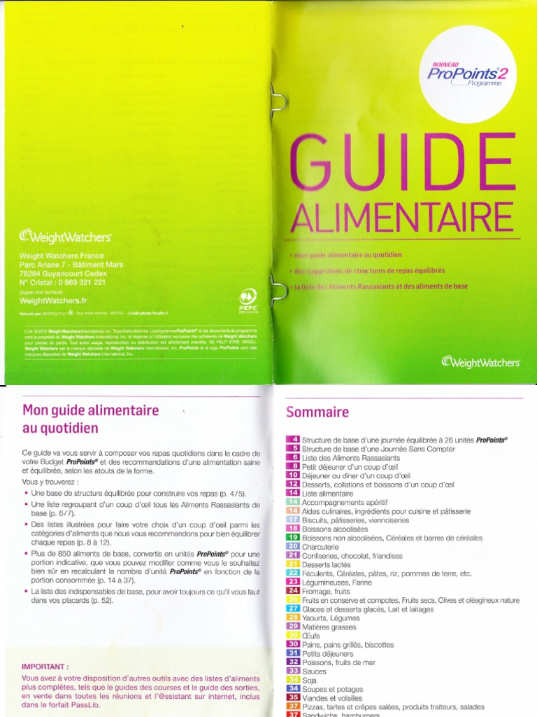 Guide alimentaire for Psychologie nc liste