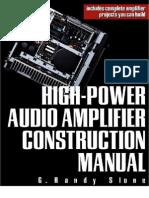 High Power Audio Amplifier Costruction Manual
