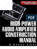 High Power Audio Amplifier Costruction Manual