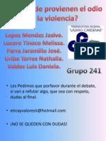 Odio y Violencia