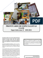 Prontuario Para Especialistas Jul 2010 USAER