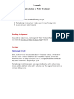 Lesson 1_ Introduction to Water Treatment