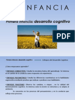 Primera Infancia Desarrollo Cognitivo