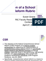 Validation of a School Reform Rubric