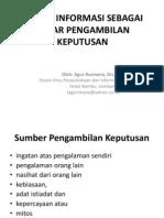 Informasi Sebagai Dasar Pengambilan Keputusan