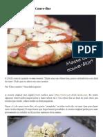 Pizza com Massa de Couve-flor ~ PANELATERAPIA - Blog de Culinária, Gastronomia e Receitas