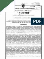 Decreto 99 2013 Reglamenta Reforma Tributaria 2012